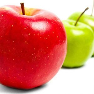 La pomme contre les boutons !